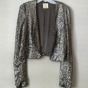 Pins And Needles Silver Sequin Blazer